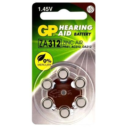 6 x baterie do aparatów słuchowych GP 312 / ZA312 / PR41