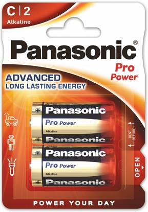2 x Panasonic Alkaline PRO Power LR14/C (blister)