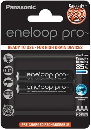 2 x akumulatorki Panasonic Eneloop PRO R03 AAA 930mAh BK-4HCDE/2BE (blister)
