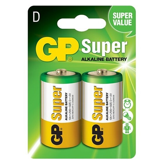 2 x bateria alkaliczna GP Super Alkaline LR20 / D
