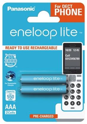 2 x akumulatorki Panasonic Eneloop Lite R03 AAA 550mAh BK-4LCCE/2BE (blister)