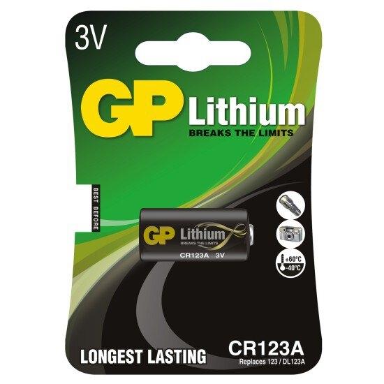 bateria foto litowa GP CR123