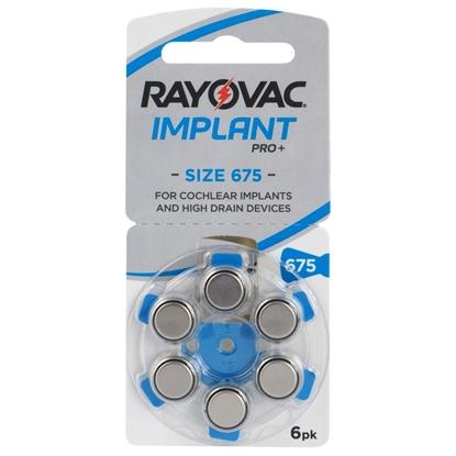 6 x baterie do aparatów słuchowych Rayovac 675 IMPLANT PRO+