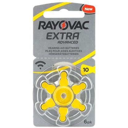 6 x baterie do aparatów słuchowych Rayovac Extra Advanced 10