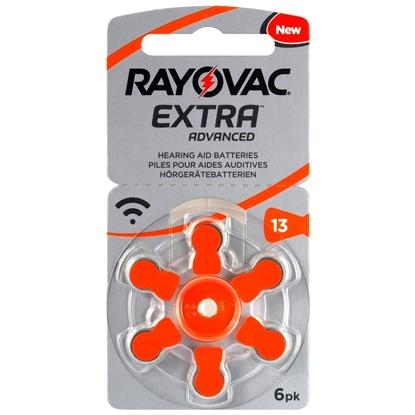 6 x baterie do aparatów słuchowych Rayovac Extra Advanced 13
