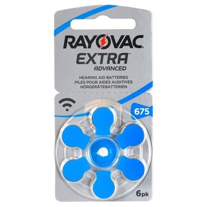 6 x baterie do aparatów słuchowych Rayovac Extra Advanced 675