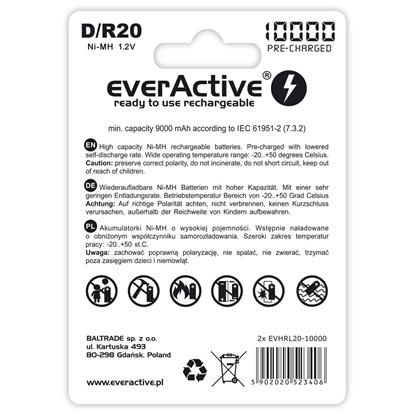 2 x akumulatorki everActive R20/D Ni-MH 10000 mAh ready to use