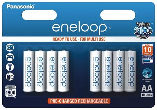 8 x akumulatorki Panasonic Eneloop R6 AA 2000mAh BK-3MCCE/8BE (blister)