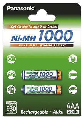 2 x akumulatorki Panasonic R03 AAA Ni-MH 1000mAh (blister)