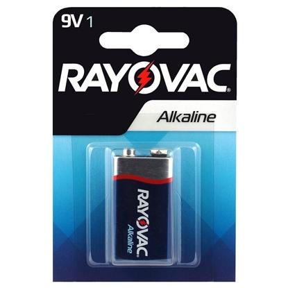 1 x Rayovac Alkaline 6LR61 / 9V
