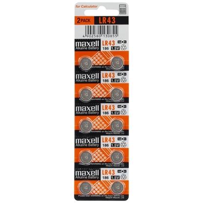 10 x bateria alkaliczna mini Maxell G12 / AG12 / L1142 / LR43 / 186 / V12GA / RW84 / D186