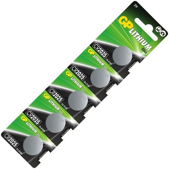 5 x bateria litowa mini GP CR2025