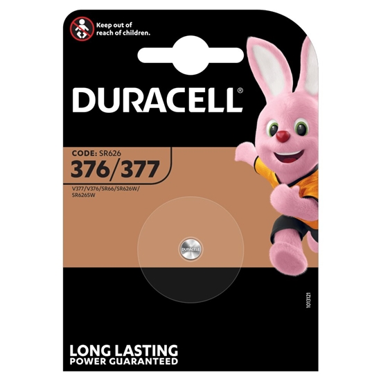 bateria srebrowa mini Duracell 377 / 376 / SR626SW / SR626W / SR66