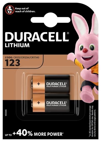 2 x bateria foto litowa Duracell CR123