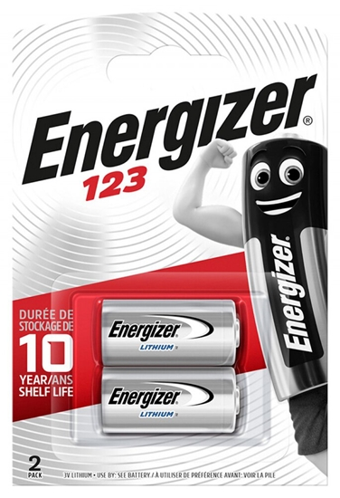 2 x bateria foto litowa Energizer CR123