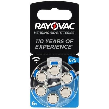 6 x baterie do aparatów słuchowych Rayovac Acoustic Special 675