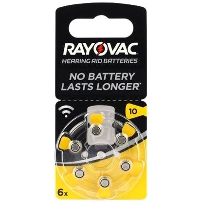 6 x baterie do aparatów słuchowych Rayovac Acoustic Special 10