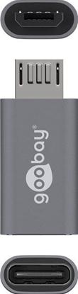 Adapter USB-C >  microUSB 2.0 (typ B) szary 55553