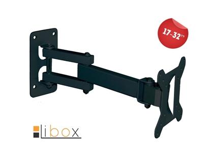 Uchwyt TV LCD 17''- 32'' ATENY czarny LIBOX LB-200