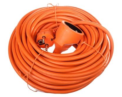 Przedłużacz ogrodowy 1-gniazdo z/u 20m /H05VV-F 3x1,5/ pomarańczowy P01120