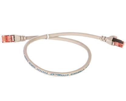 Kabel krosowy (Patch Cord) S/FTP kat.6 szary 0,5m DK-1644-005