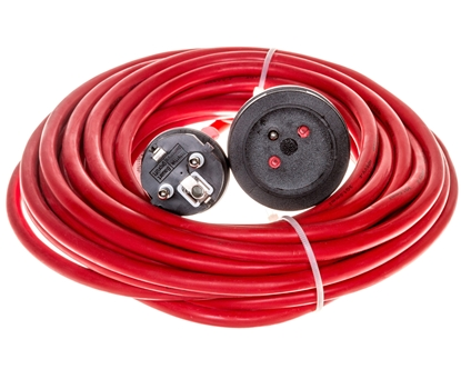 Kabel przedłużający (przedłużacz) 10m czerwony 1x230V H05VV-F 3G1,5 1167464