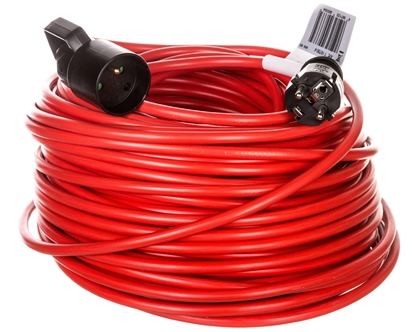 Kabel przedłużajacy (przedłużacz) 50m czerwony 1x230V H05VV-F 3G1,5 1167504