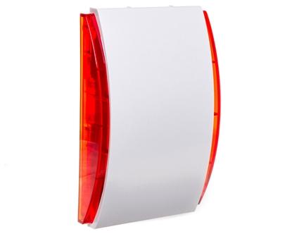 Sygnalizator akustyczny wewnętrzny biało/ czerwony Grade 2 SPW-210 R
