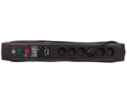 Listwa przeciwprzepięciowa Premium  Line 30kA 6x230V czarna 3m H05VV-F 3G1,5 1156004826