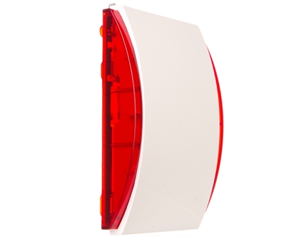 Bezprzewodowy sygnalizator wewnętrzny z sygnalizacją optyczną i akustyczną /czerwony, PIEZO/ ASP-205 R