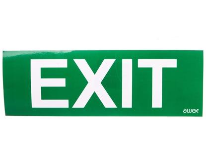 Piktogram 100x300 PM28 exit logo awex (ISO7010)