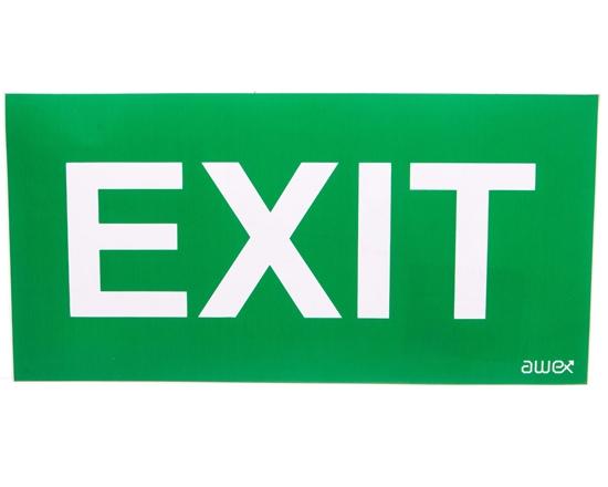 Piktogram 125x250 PS28 exit logo awex (ISO7010)