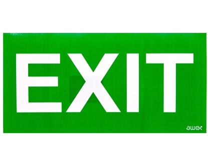 Piktogram 150x300 PD28 exit logo awex (ISO7010)