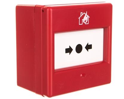 Ręczny ostrzegacz pożarowy wkomplecie zszybką 1P IP24D CXM/CO/GP/R/BB 4930010FUL-0048XC