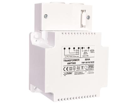 Zasilacz niebuforowy transformatorowy 230VAC 3A/2,8A/2,5A TRP 50VA/16V/18V/20V AWT 500