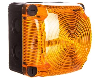 Sygnalizator ostrzegawczy żółty 24V DC LED błyskowy podwójny IP65 853.310.55