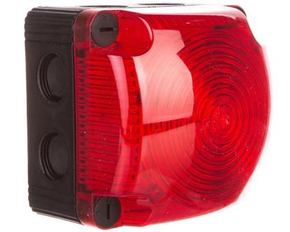 Sygnalizator ostrzegawczy czerwony 24V DC LED stały IP66 853.100.55