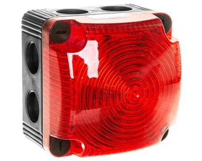 Sygnalizator ostrzegawczy czerwony 115-230V AC LED stały IP66 853.100.60