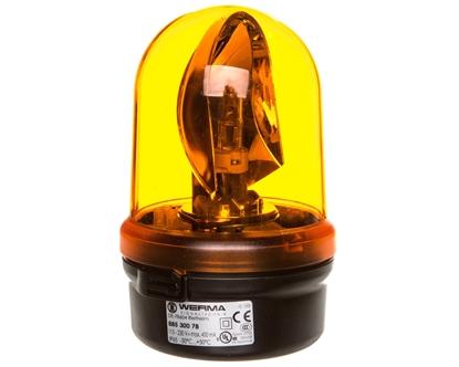 Sygnalizator ostrzegawczy żółty 115-230V AC/DC obrotowy IP65 885.300.78