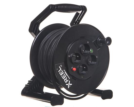 Przedłużacz bębnowy XREEL 40mb H05RR-F 3x1,5 IP20 4xGS 230V 92501T48173