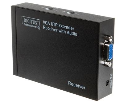 Przedłużacz/extender VGA 1920x1200 po skrętce kat.5e UTP, do 300m z audio DS-53450
