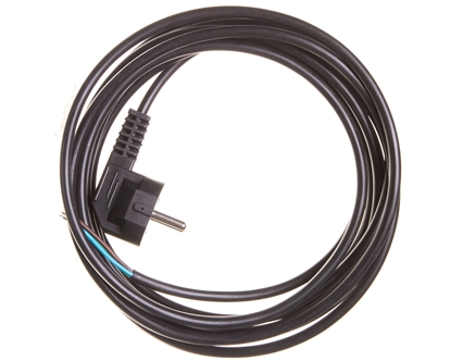 Przewód przyłączeniowy W-3 3x1,0 mm2 czarny z wtyczką kątową 5m 51.930