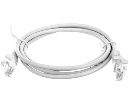 Kabel krosowy patchcord U/UTP kat.5e CCA szary 1,5m 95557