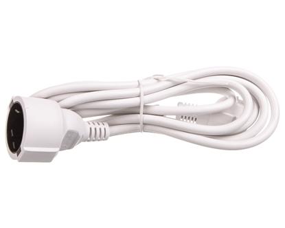 Kabel przedłużajacy (przedłużacz) 3m biały 1x230V H05VV-F3G1,5 93087