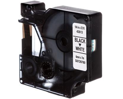 Taśma samoprzylepna do drukarek DYMO TDD 43613 (211-6) BK/WT E04ZP-03100400601