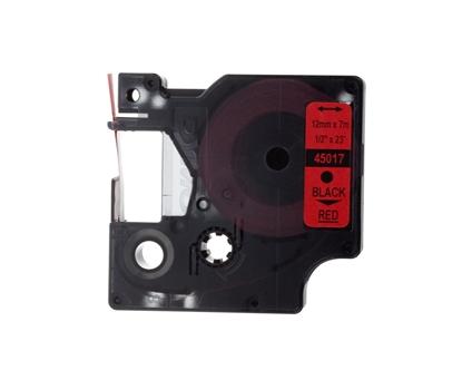Taśma do drukarek D1 12mm x 7m czarny/czerwony S0720570
