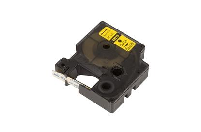 Taśma do drukarek D1 9mm x 7m czarny/żółty S0720730