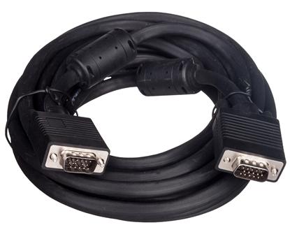 Kabel połączeniowy SVGA Typ DSUB15/DSUB15, M/M czarny 5m AK-310103-050-S