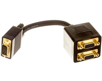 Adapter VGA D-Sub15 (M) - 2x VGA D-Sub15 (F)