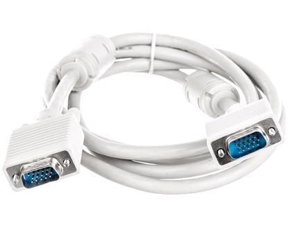 Kabel połączeniowy beżowy SVGA Typ DSUB15/DSUB15, M/M 1,8m AK-310103-018-E